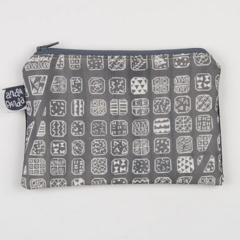 bcn map grey purse