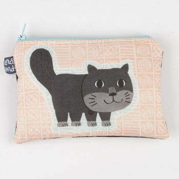 cat purse peach square