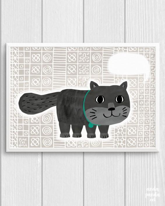 grey cat a4
