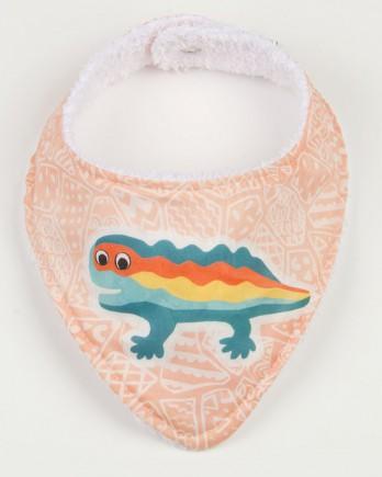 lizard bandana peach