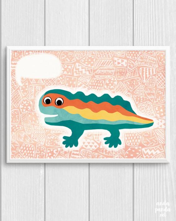 lizard peach a4