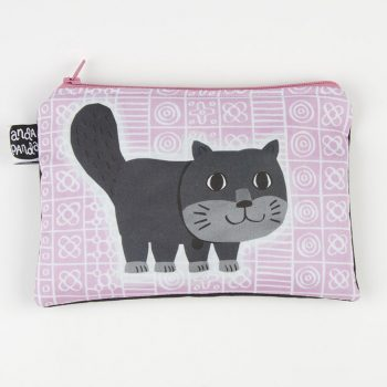 pink purse cat square