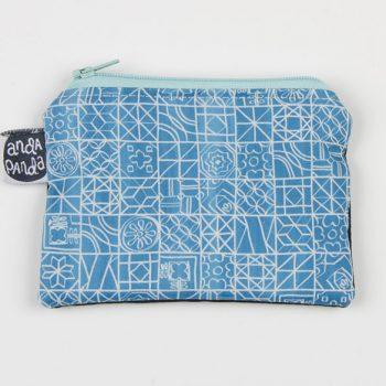 tiles blue purse