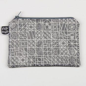 tiles grey purse