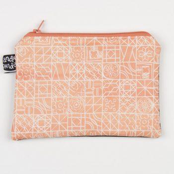 tiles peach purse