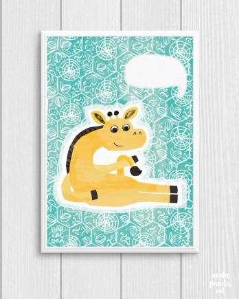 turquoise giraffe